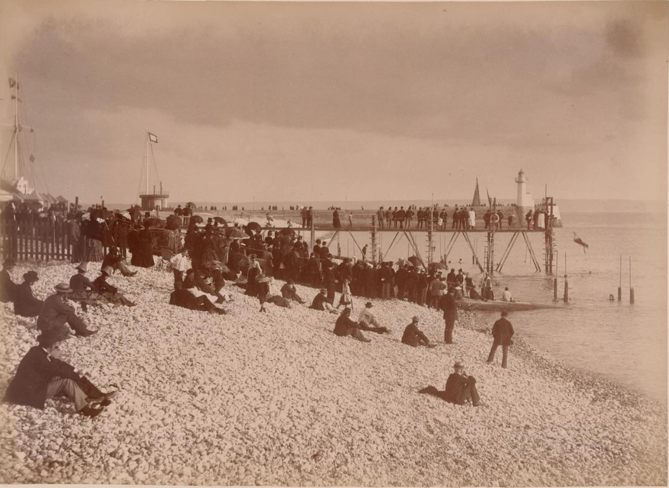 Фраскати. Пляж во время купания
