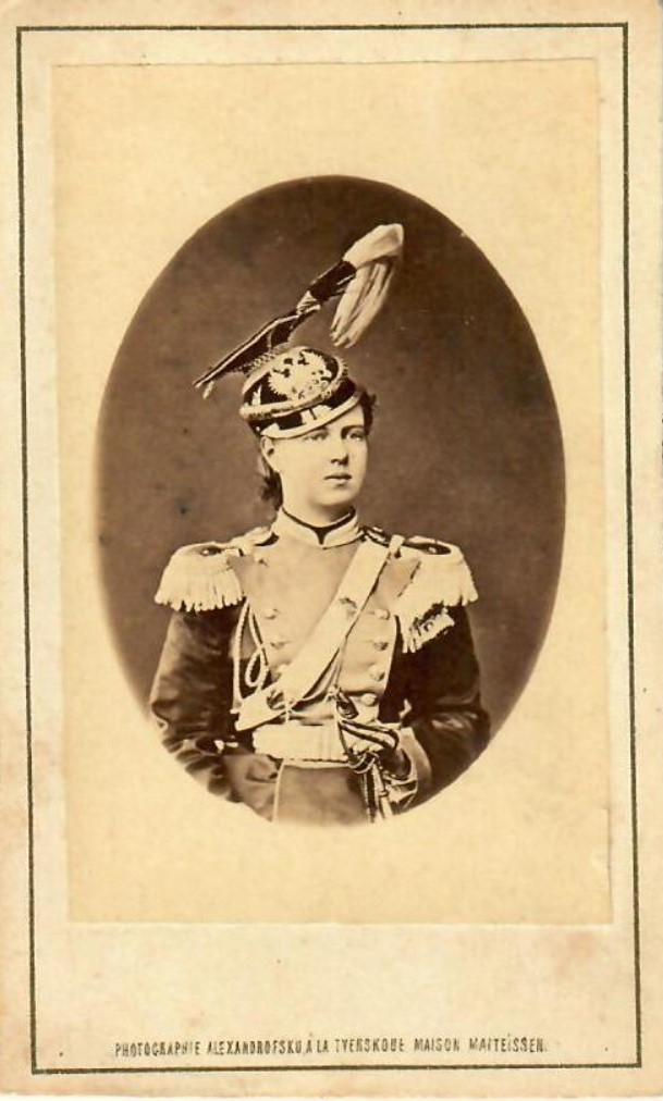 1870-е. Великая княжна Мария Александровна в форме 14-го Ямбургского уланского полка