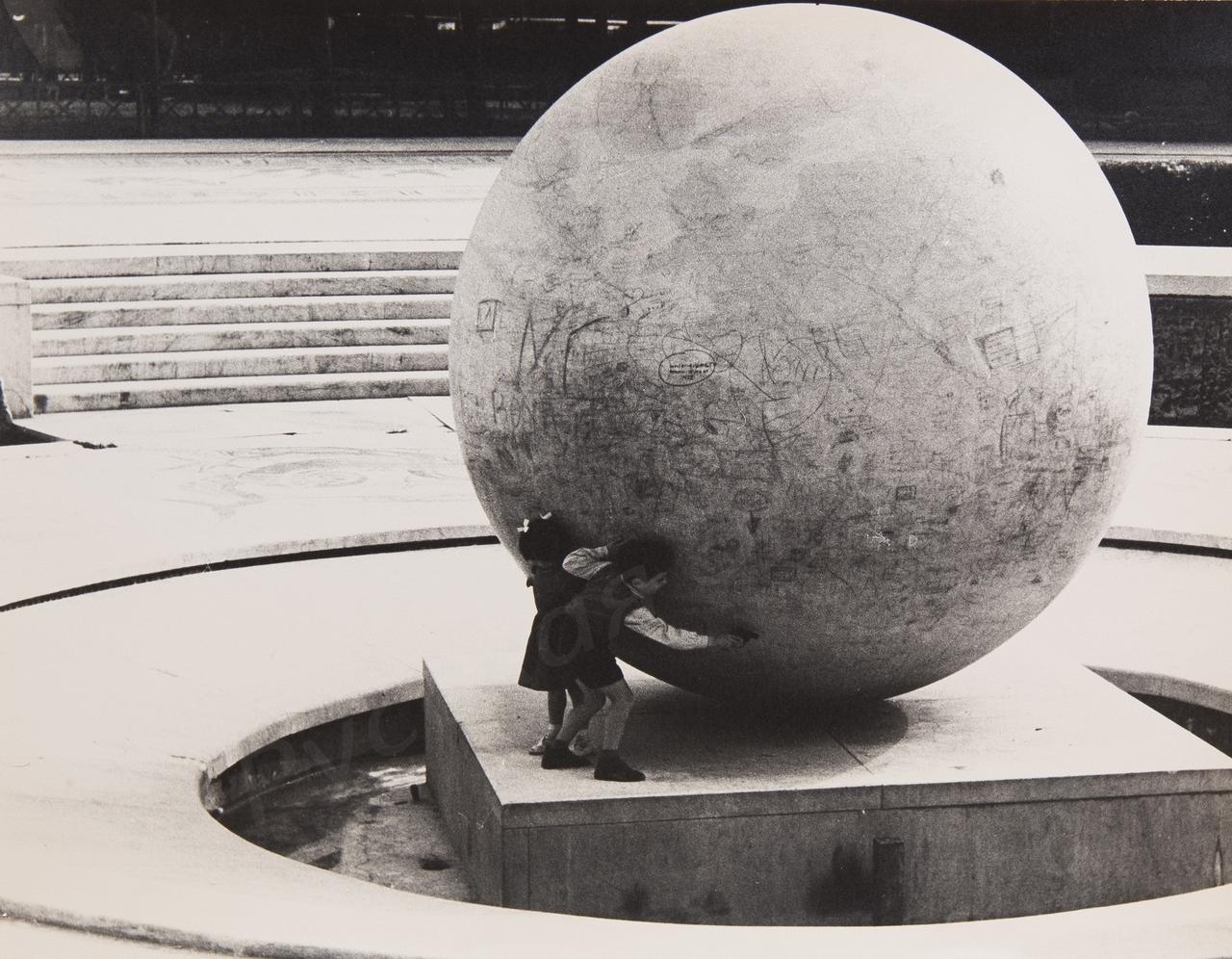 1950-е. Комовский А.Г. «На стадионе в Риме»