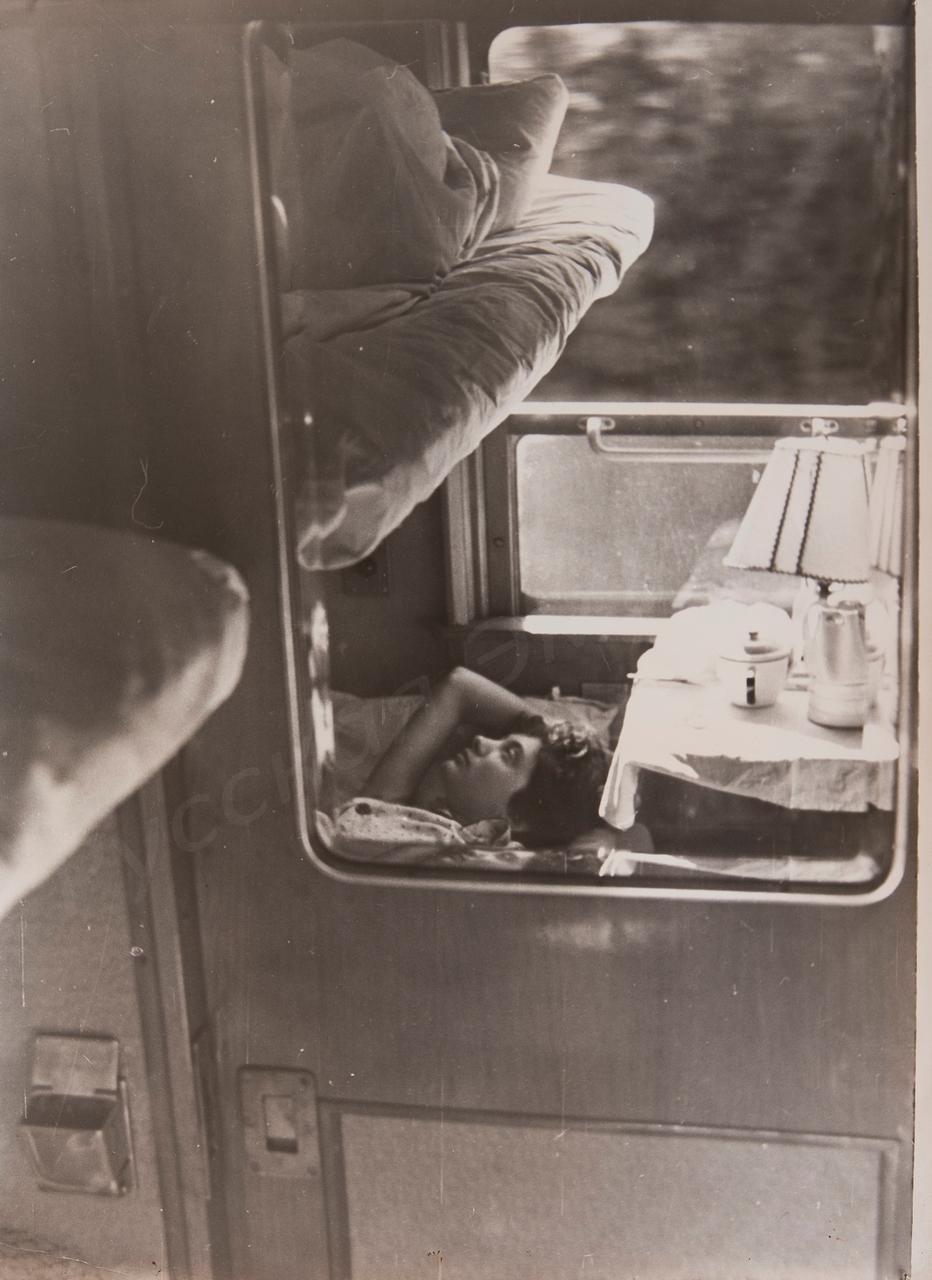 1960-е. Комовский А.Г. «В купе. Отражение»