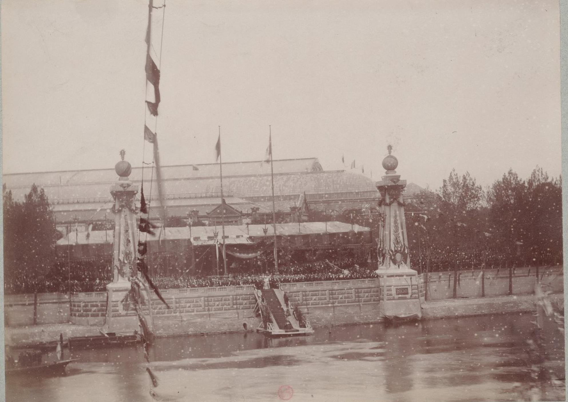 22. Торжественная закладка моста императора Александра III через Сену