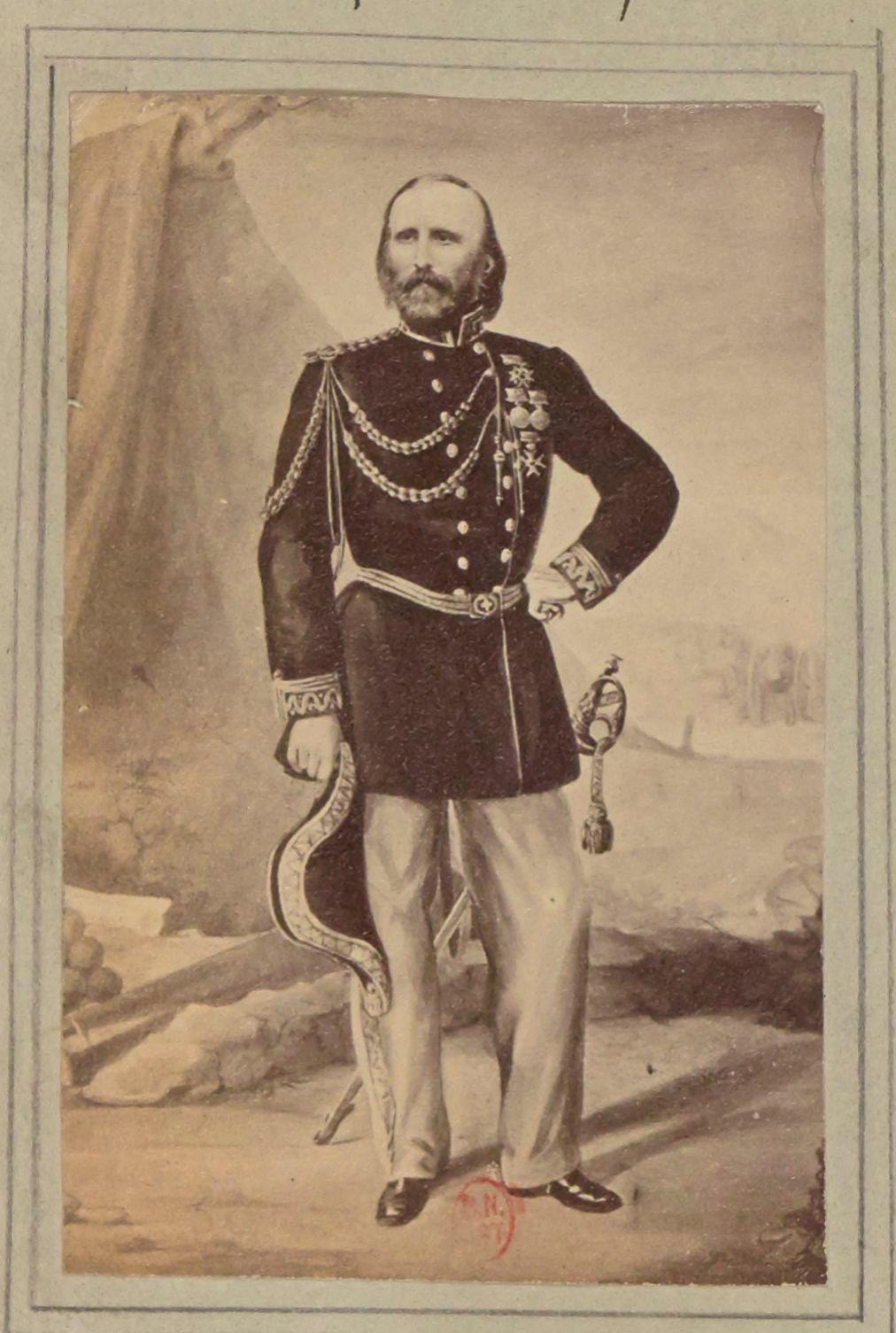 1859. Джузеппе Гарибальди (4 июля 1807, Ницца — 2 июня 1882, остров Капрера) — итальянский полководец, революционер и политический деятель