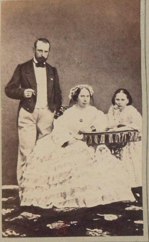 1864. Король Швеции с семьей