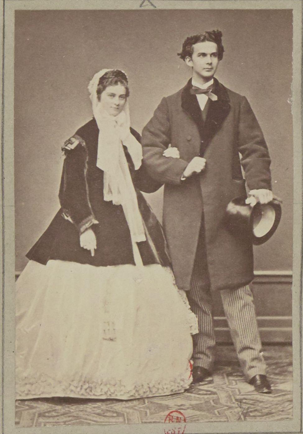 1864. Людвиг II Баварский (25 августа 1845, Мюнхен — 13 июня 1886, Штарнбергер-Зе) с Софией Баварской