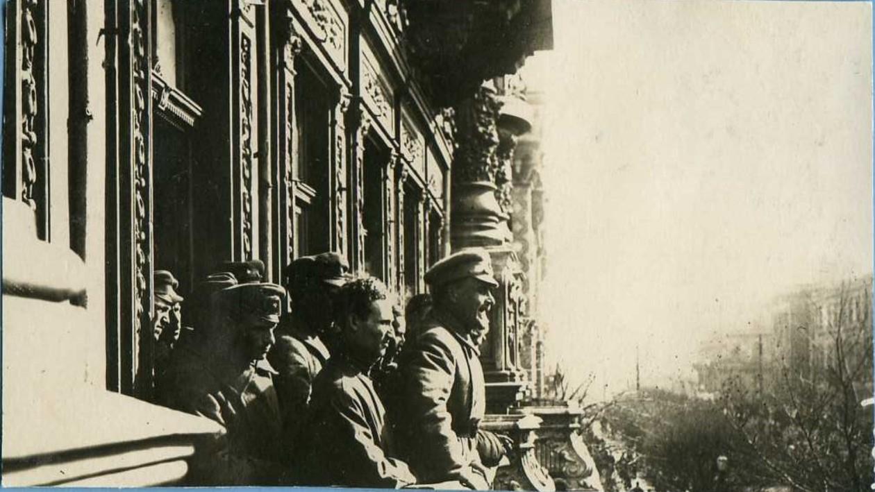 1920. Митинг у гостиницы «Бристоль». Одесса