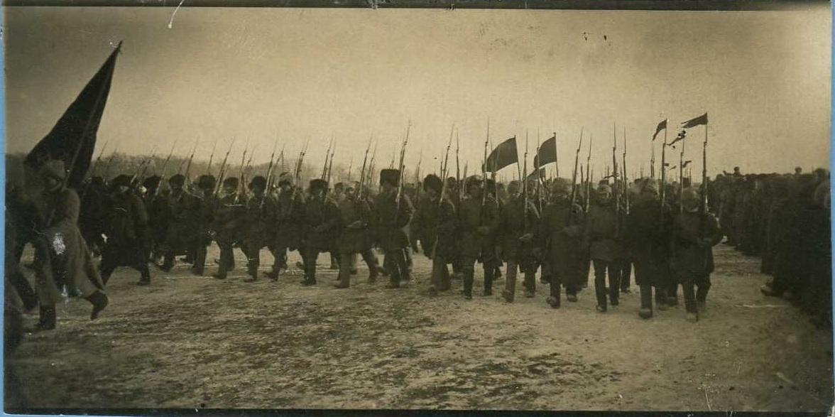 1921. Парад частей Красной Армии в г.Омске