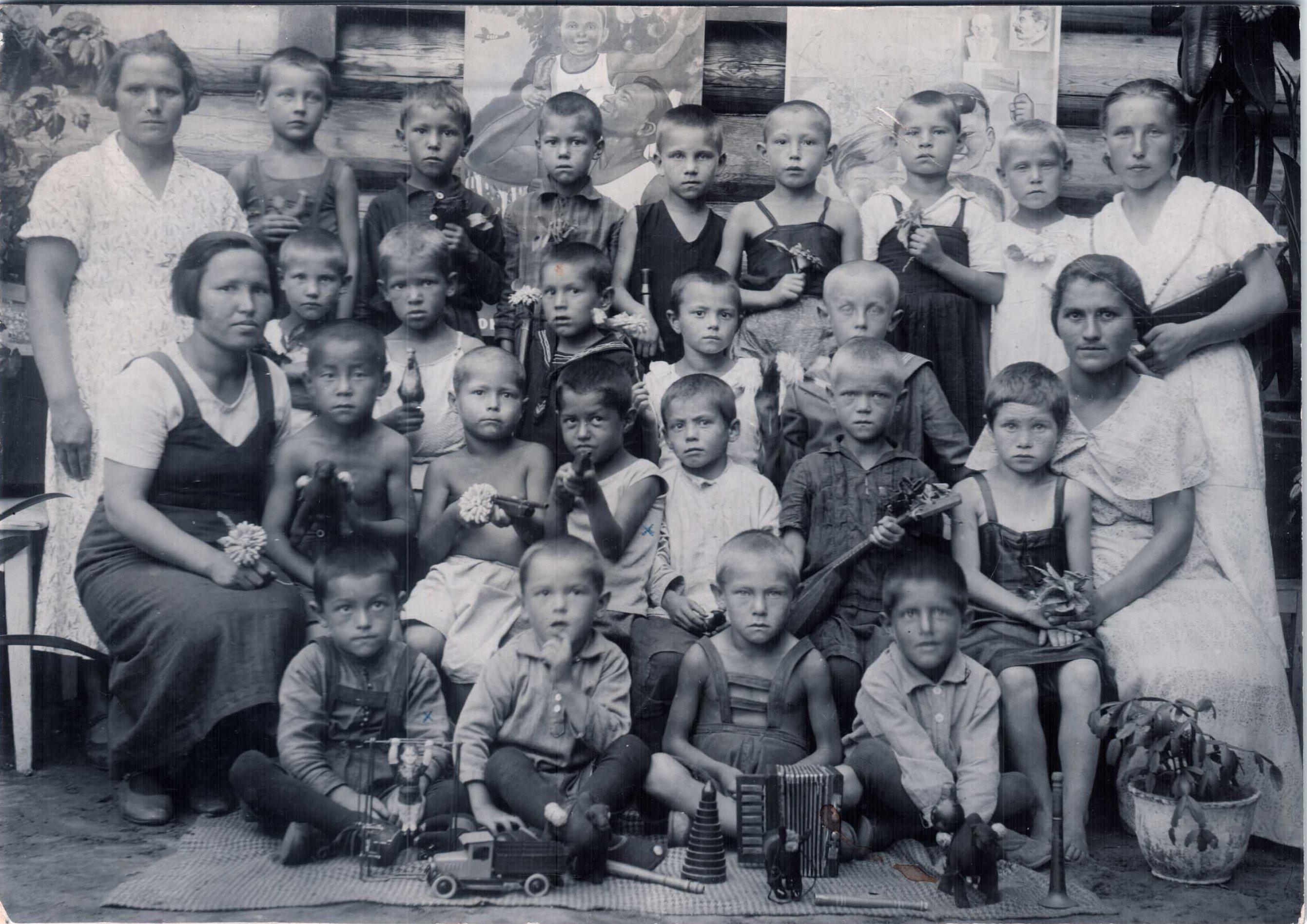1936. Дети в детском саду