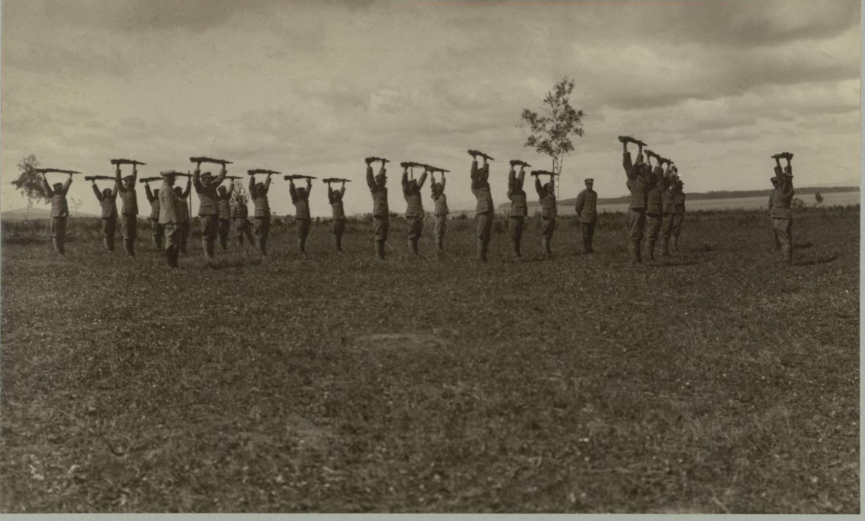 Гимнастические упражнения в Маньчжурии