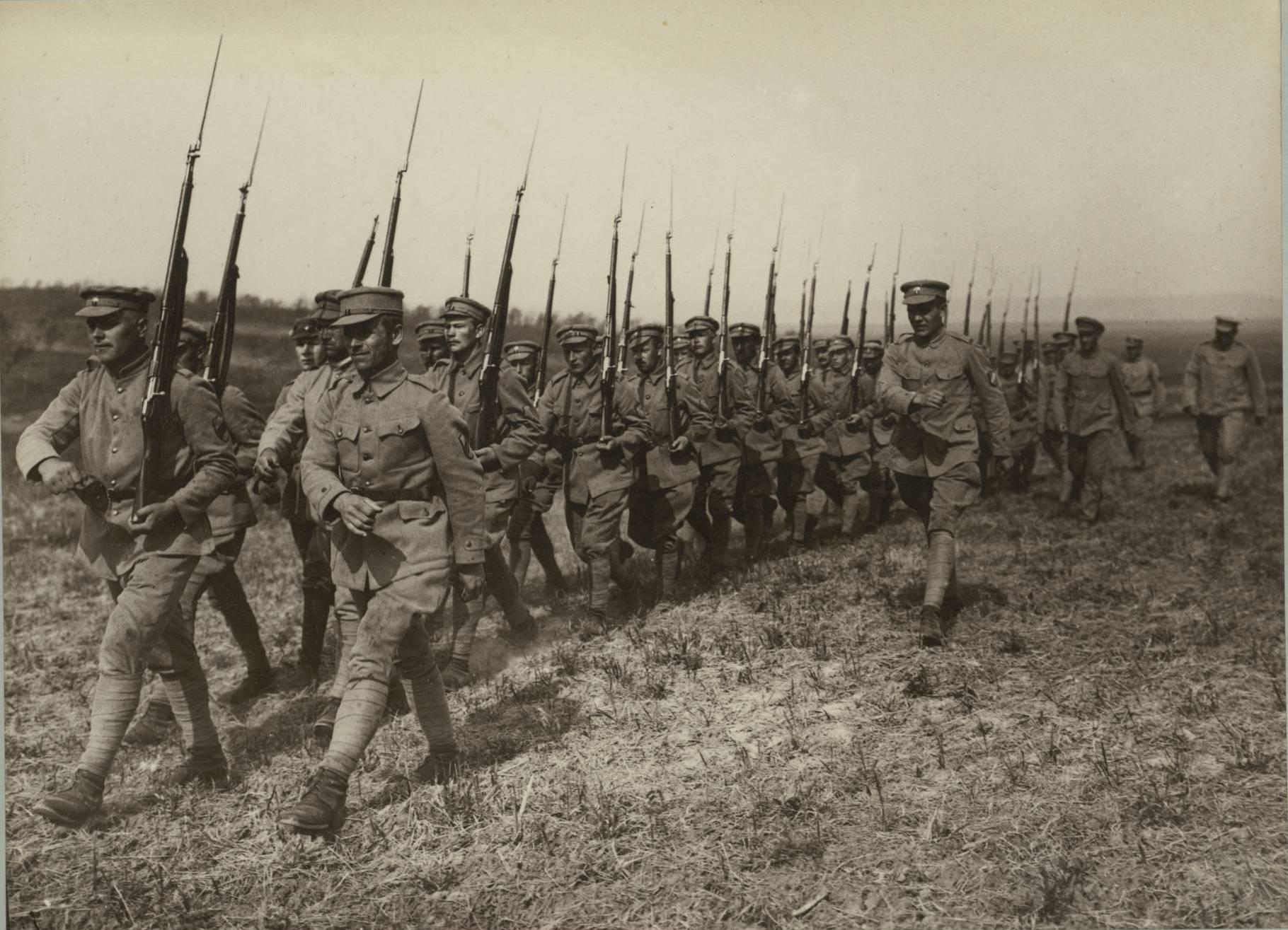 Рота во время боевой подготовки