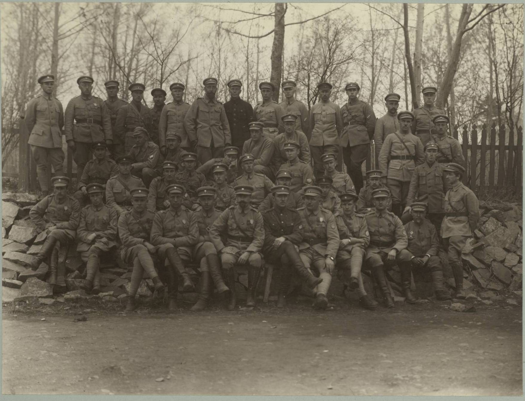Офицеры батальона