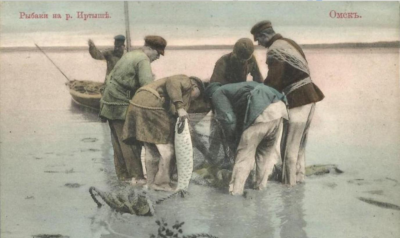 Рыбаки на р. Иртыше