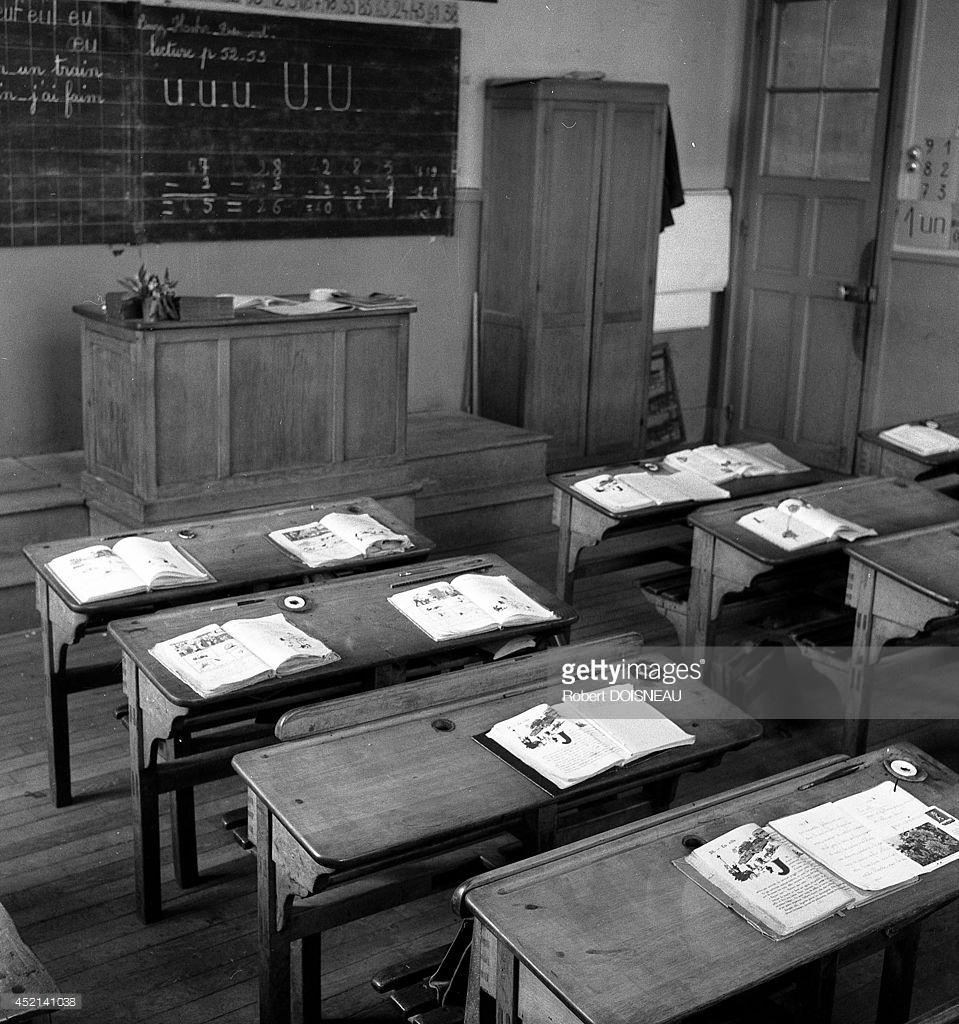 1956. Классная комната в школе на улице Буффона