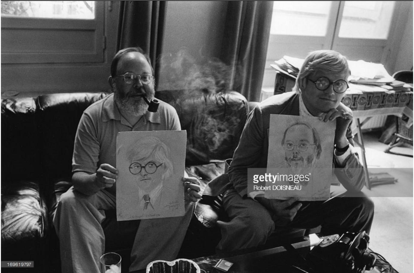 1975. Портрет искусствоведа и критика Генри Гельдзалера и художника Дэвида Хокни