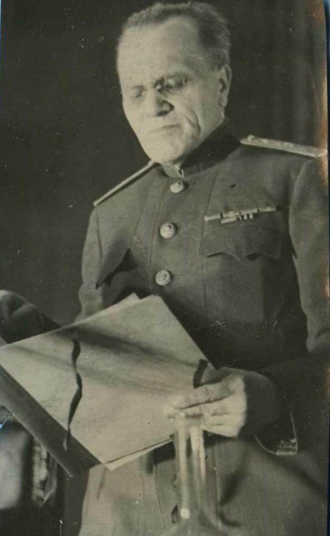 1945. Председатель Военного трибунала генерал-майор А.Д.Горячев.