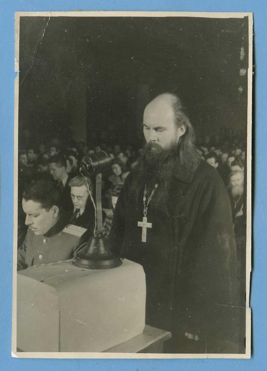 1946. Иеромонах Псковско-Печерского монастыря Серафим Розенберг. 6.2.