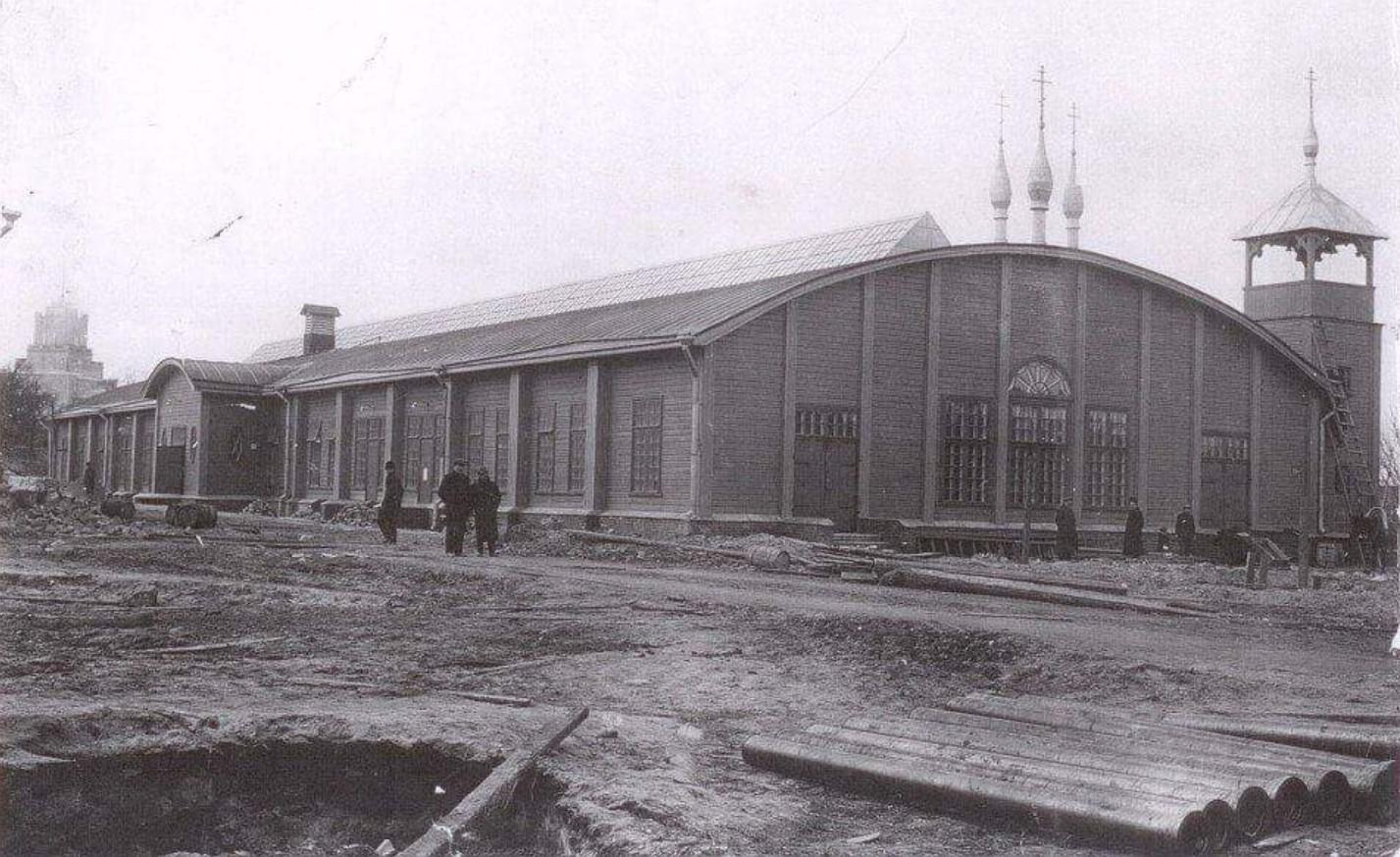Здание Народного дома, столовой и церкви. Коппель. Нижняя колония