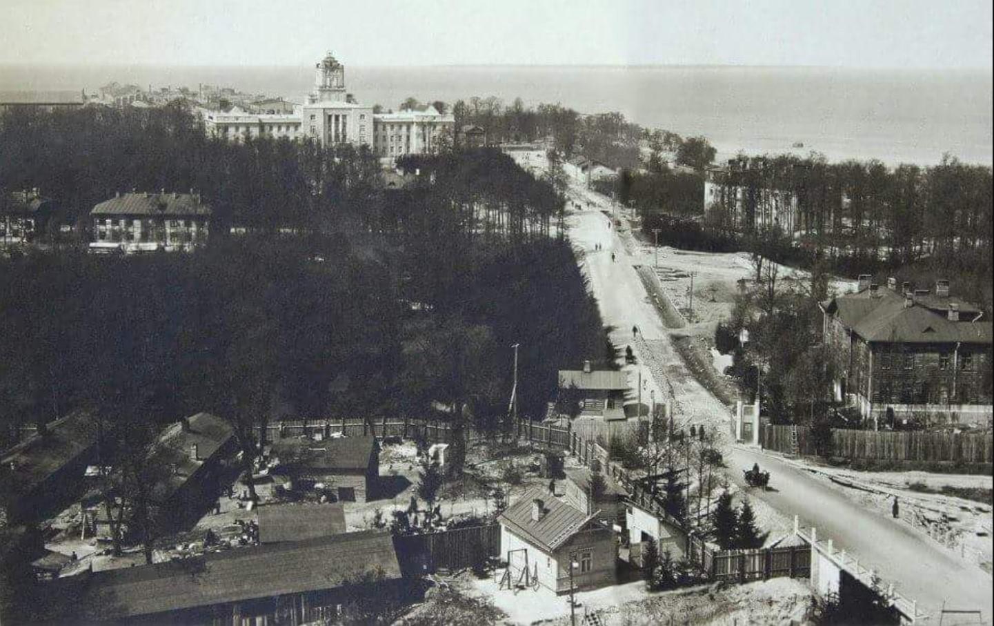 Вид на полуостров Коппель с водонапорной башни