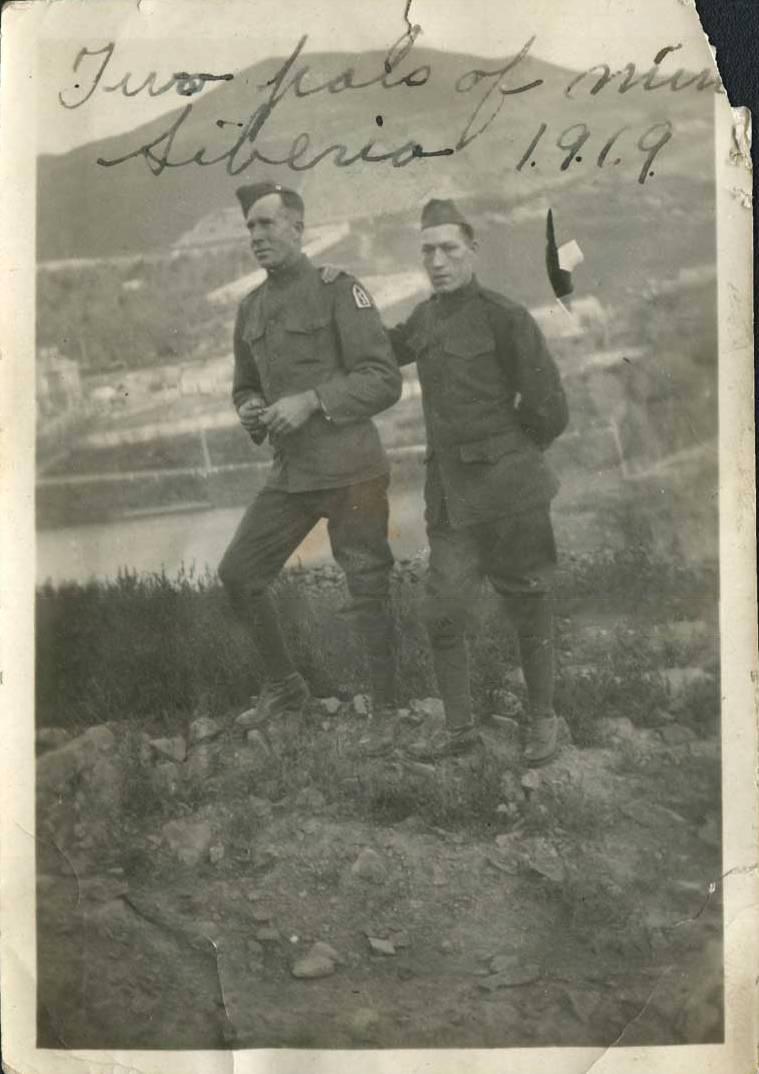 Владивосток, район Минного городка, военнослужащие 31-ого пехотного полка 'Белые медведи'. 1919