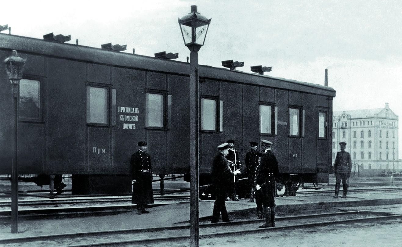 Встреча начальства на станции Куломзино.