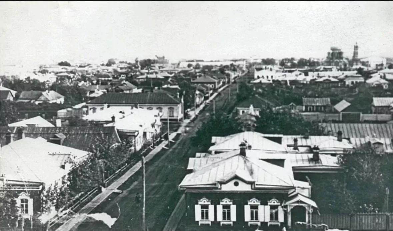 Панорама центральной части города с улицей Тарской. 1909