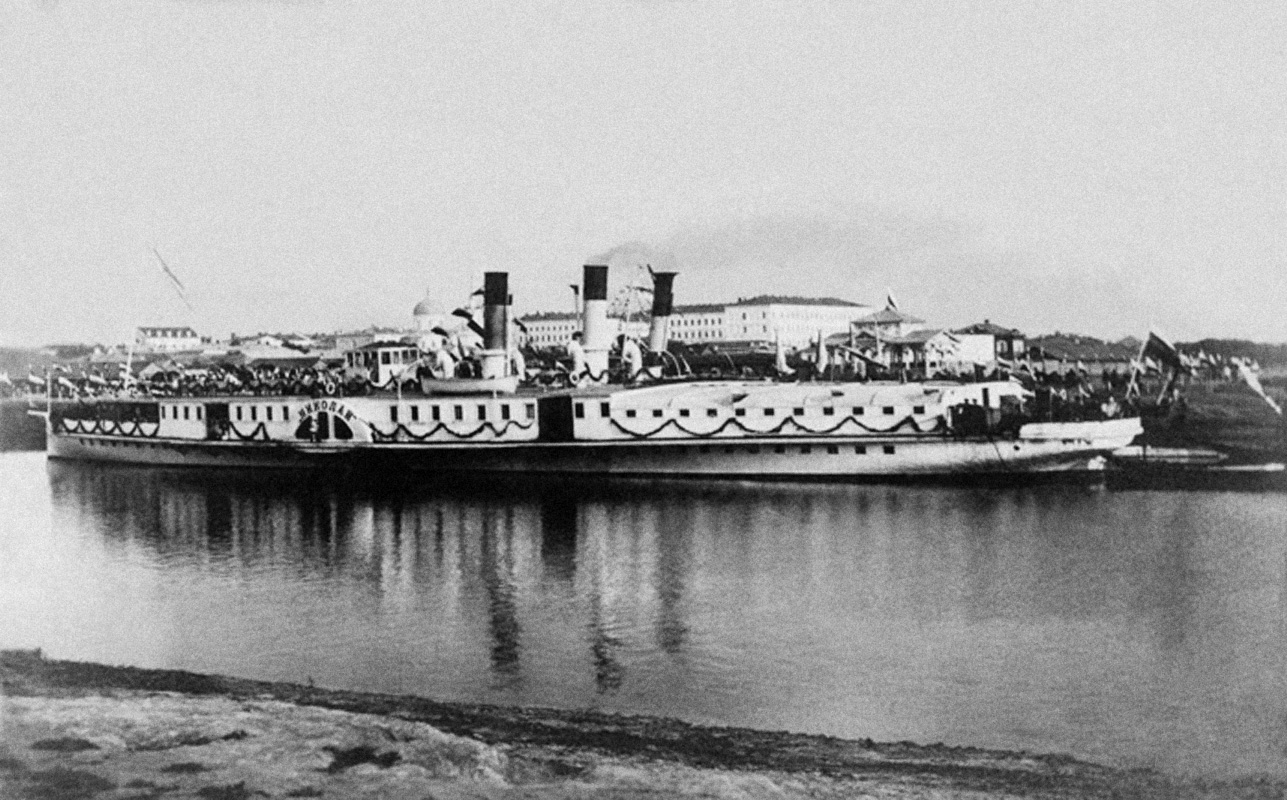 Пароход «Николай» на Оми. 1891