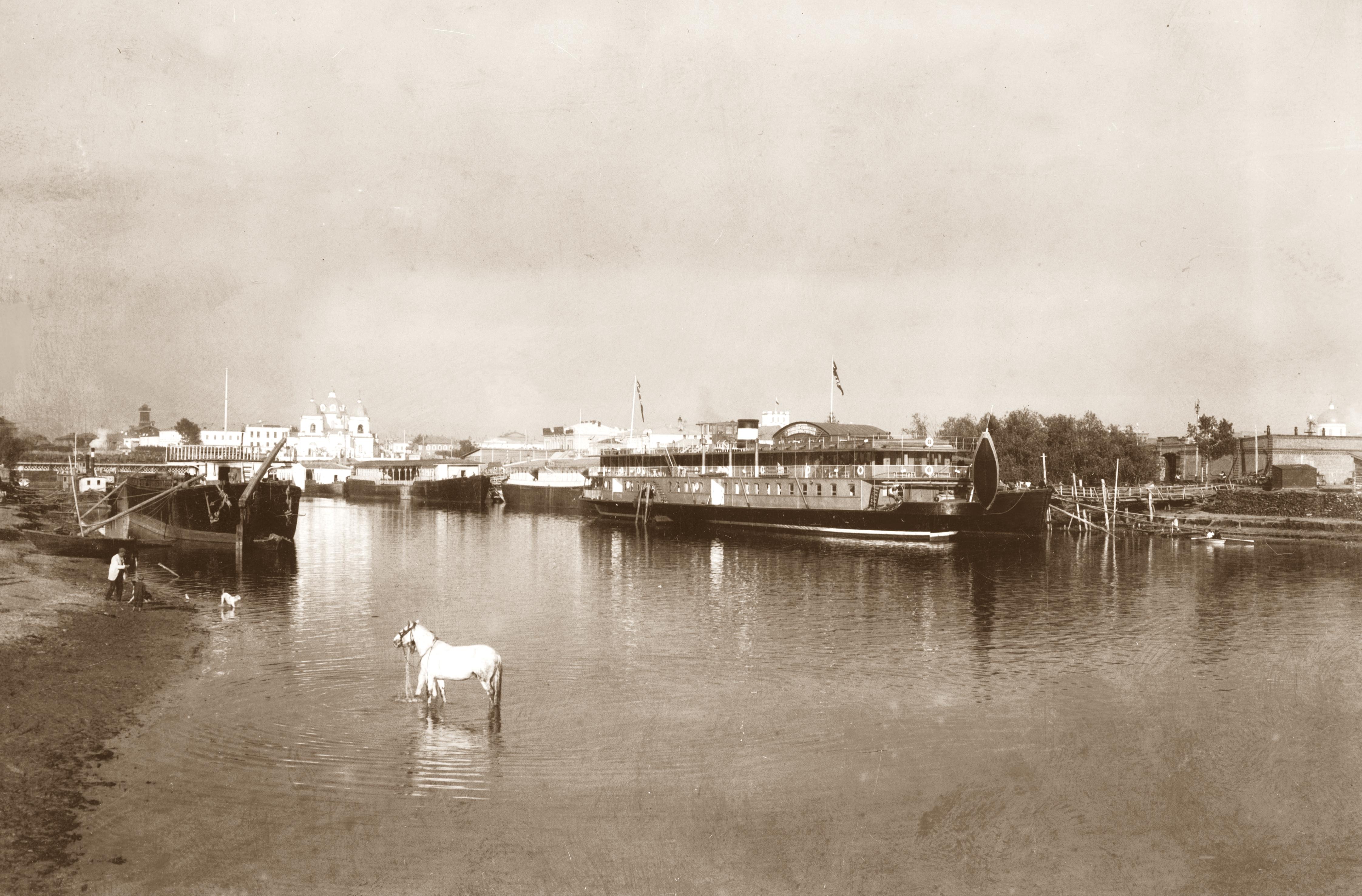 Пассажирская пристань в устье Оми