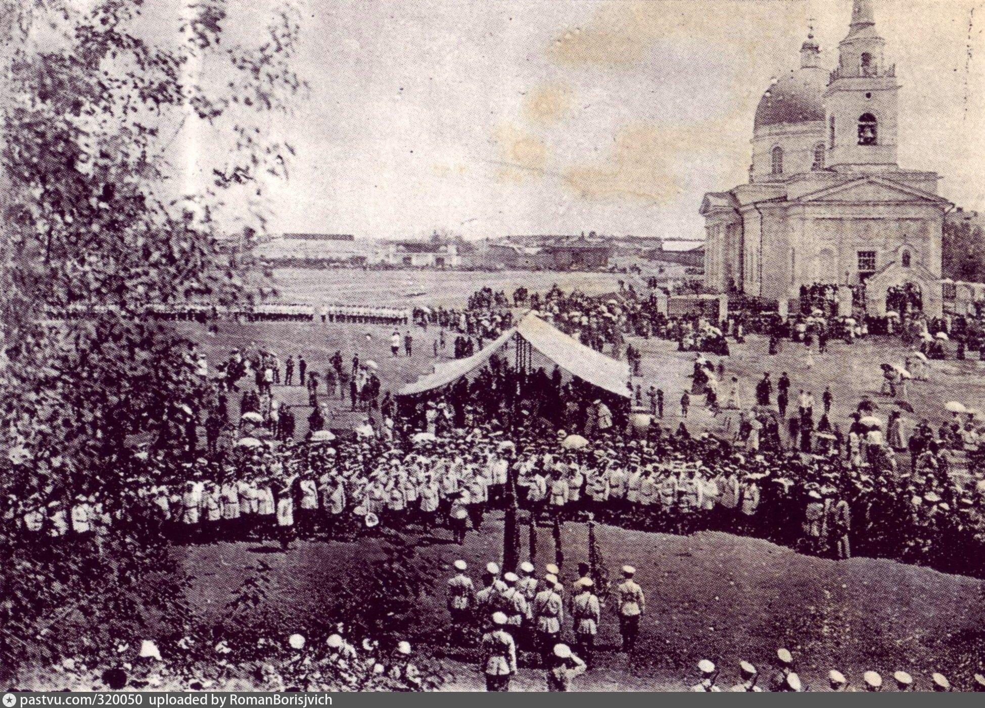 Торжество приёма Сибирским казачьим войском Георгиевского Знамени, высочайше пожалованного 6 декабря 1903 года. май 1904
