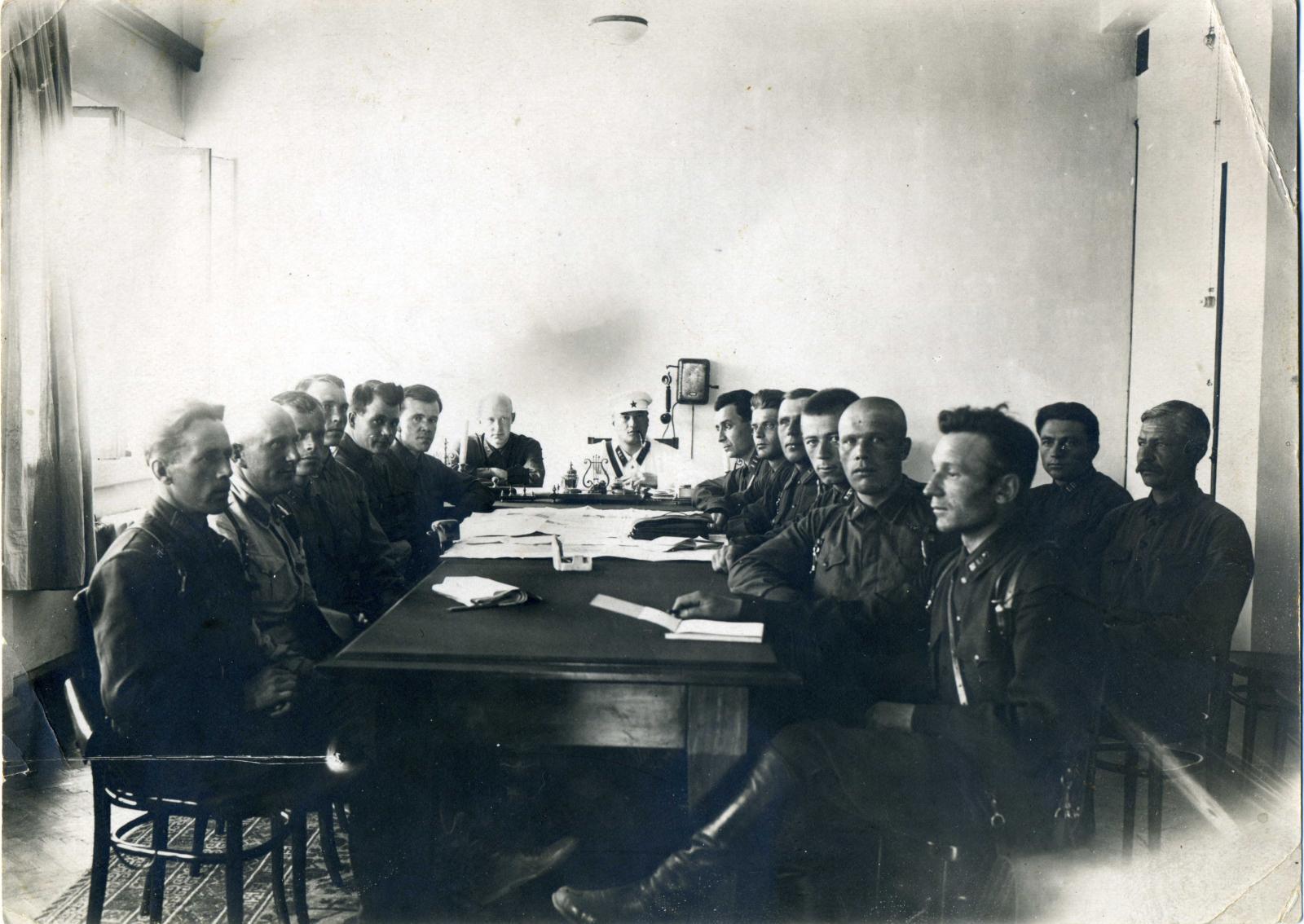 1935. Совещание сотрудников органов НКВД и командования ПВ НКВД КазАССР