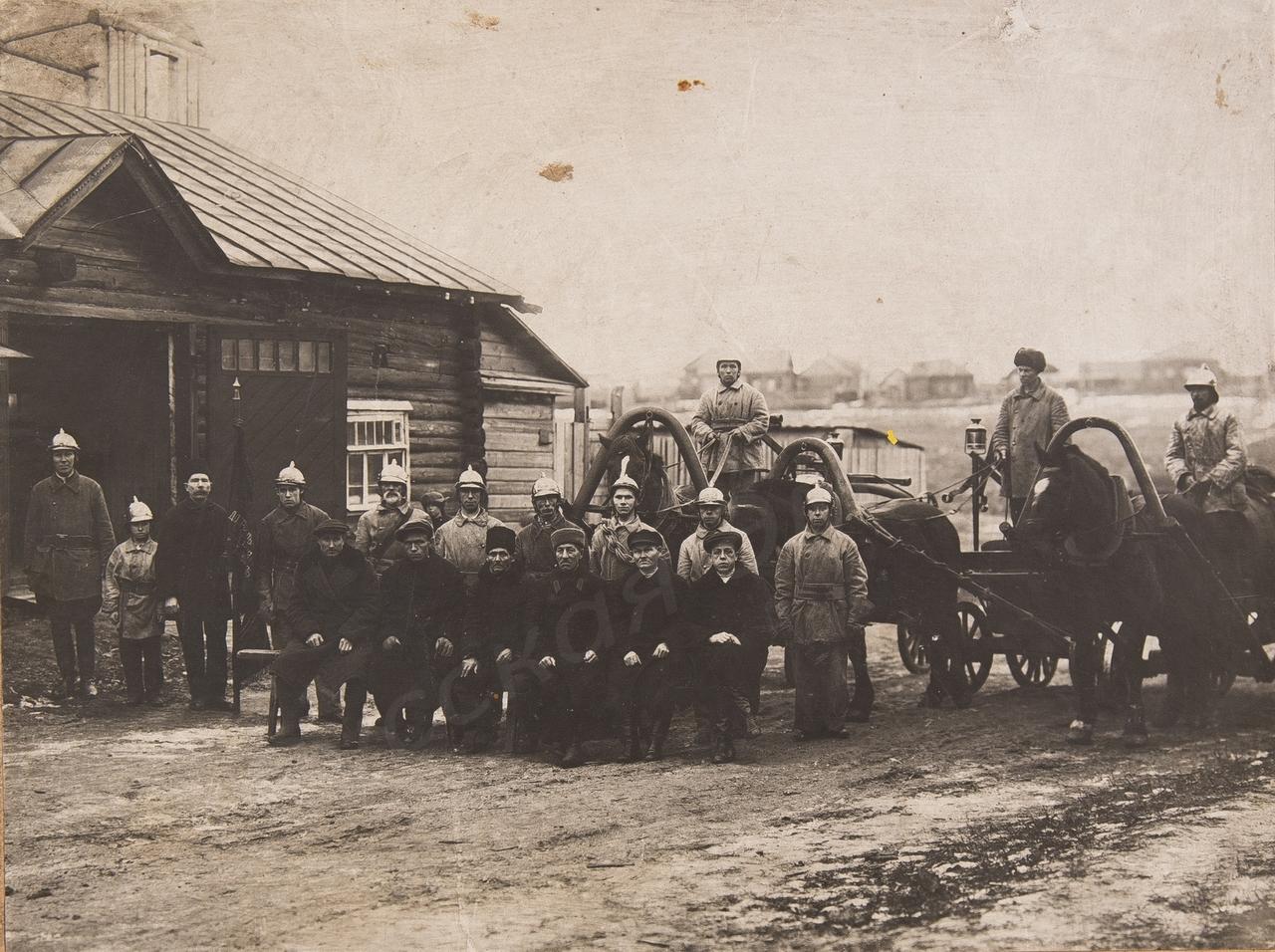 1930-е. Члены добровольной пожарной дружины