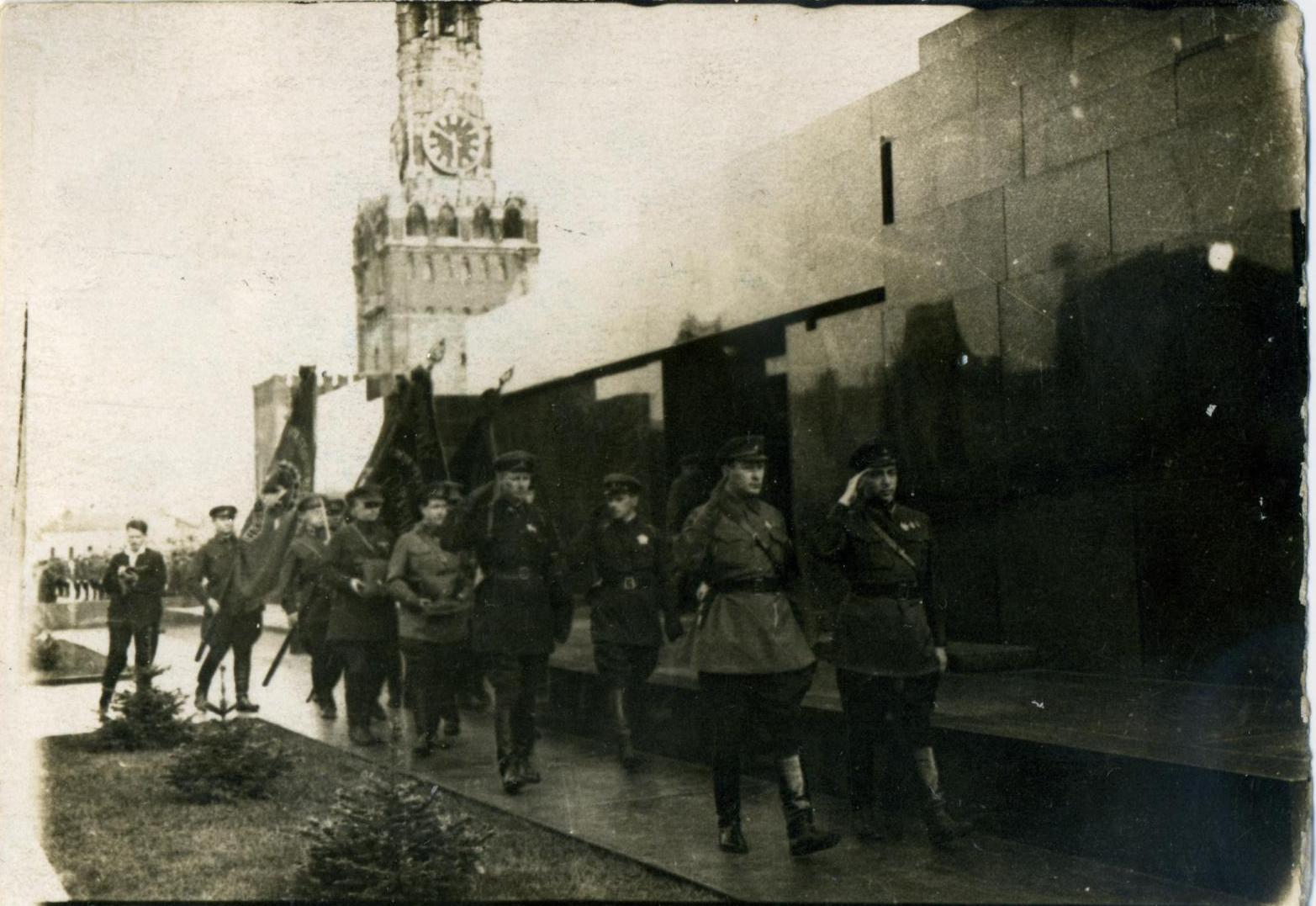 1934.  Церемония похорон В. Р. Менжинского, г. Москва, май