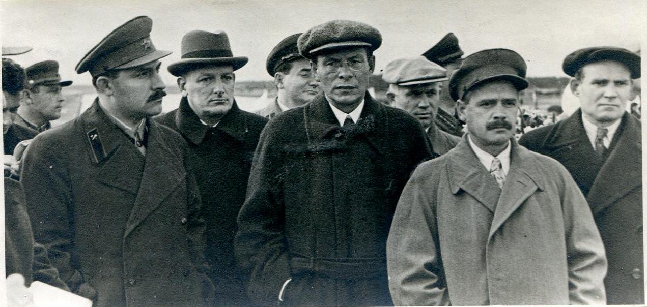 1936.  Каганович, Хрущев, Агранов, Радзутак и др. Москва