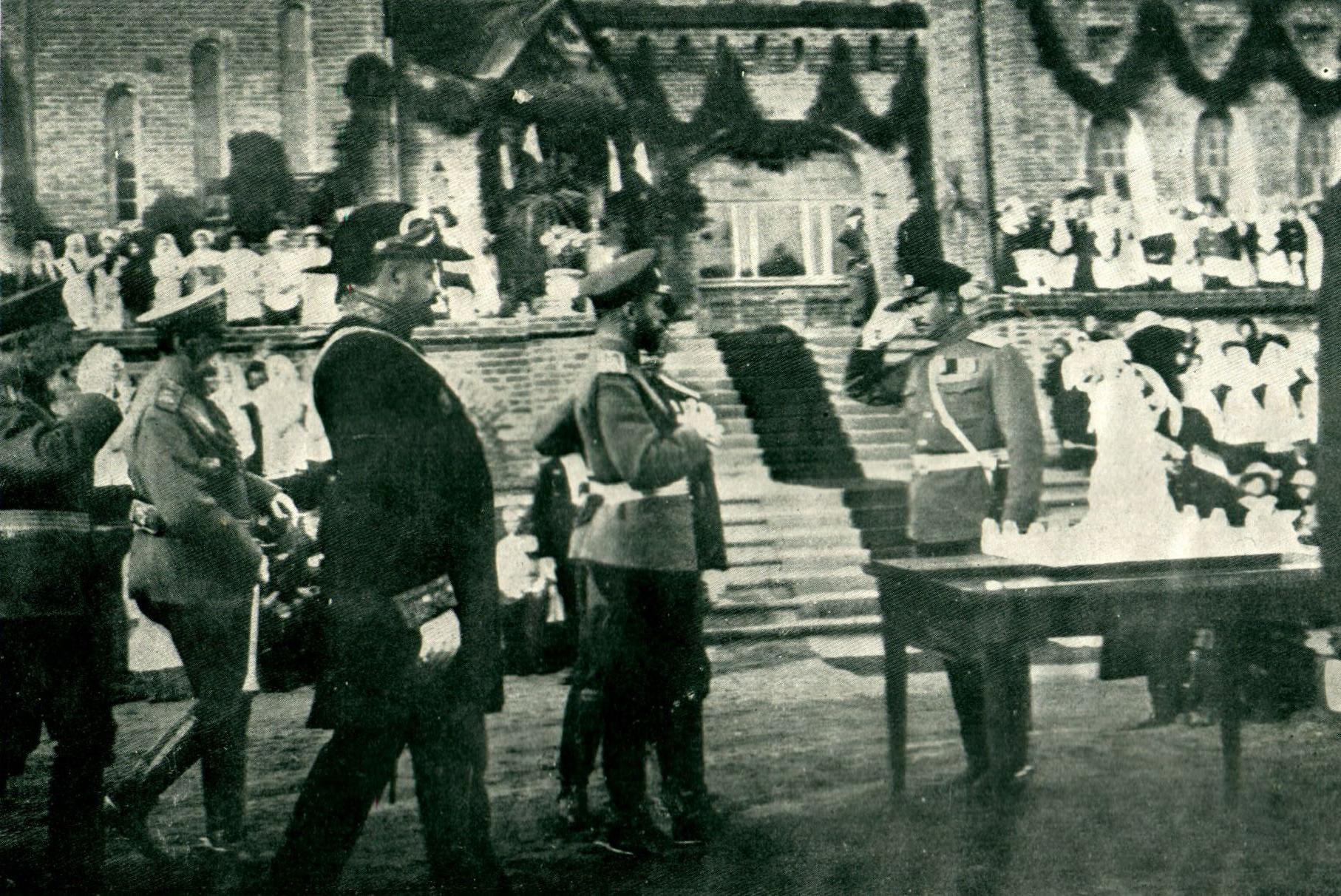 Николай II на открытии Бульвара памяти 1812 года