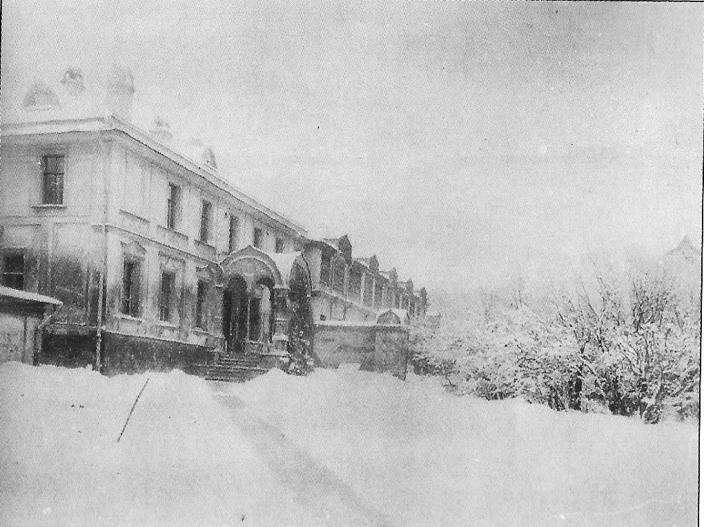 Б. Трехсвятительский переулок. Снесенный дом во владении Морозовых кон. 1900-х