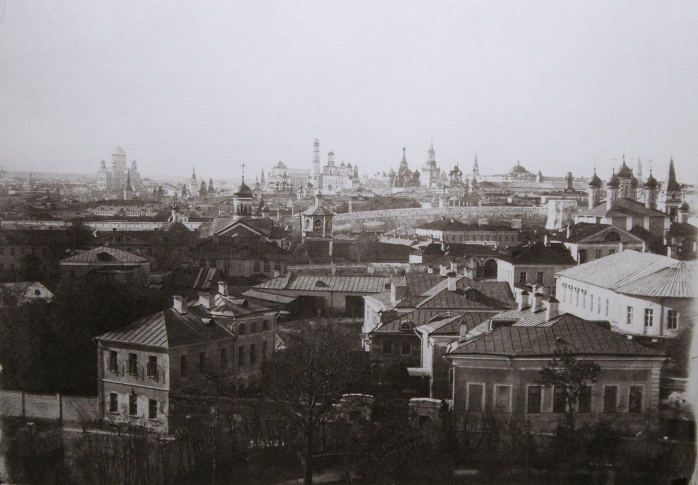 Вид на Кремль от Морозовского сада. 1858.