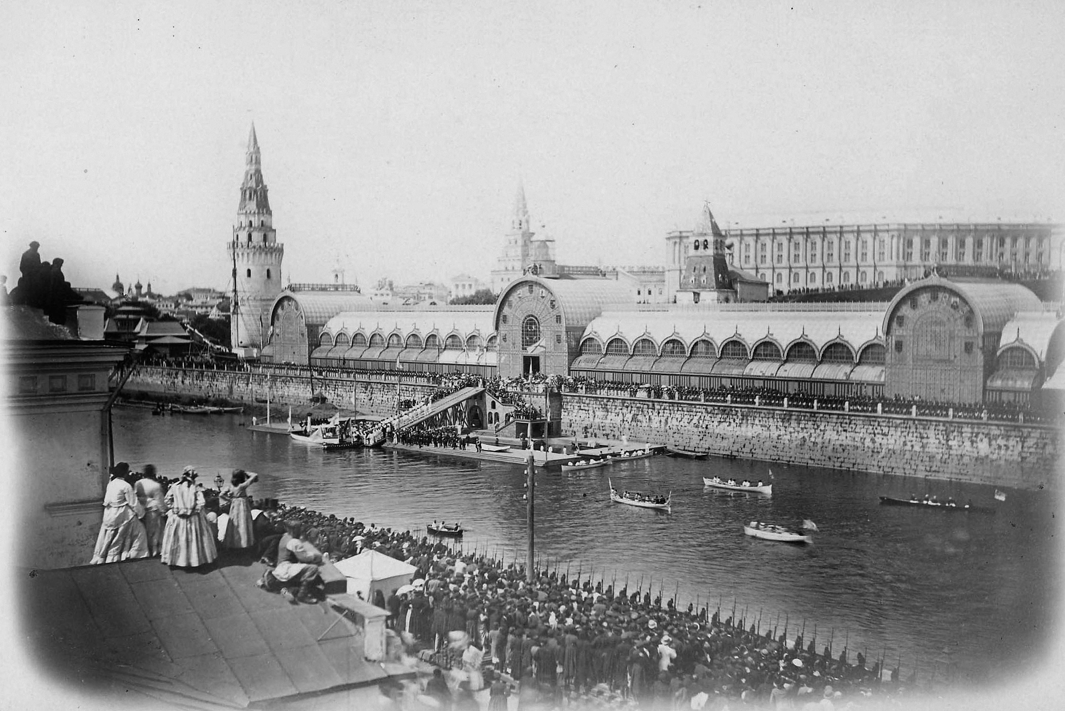 Приём ботика Петра I на Политехническую выставку в день празднования двухсотлетия Петра 30 мая 1872