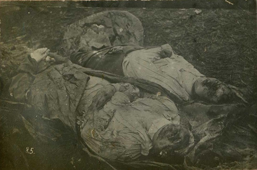 04. Немецкие летчики упавшие с подбитого аэроплана