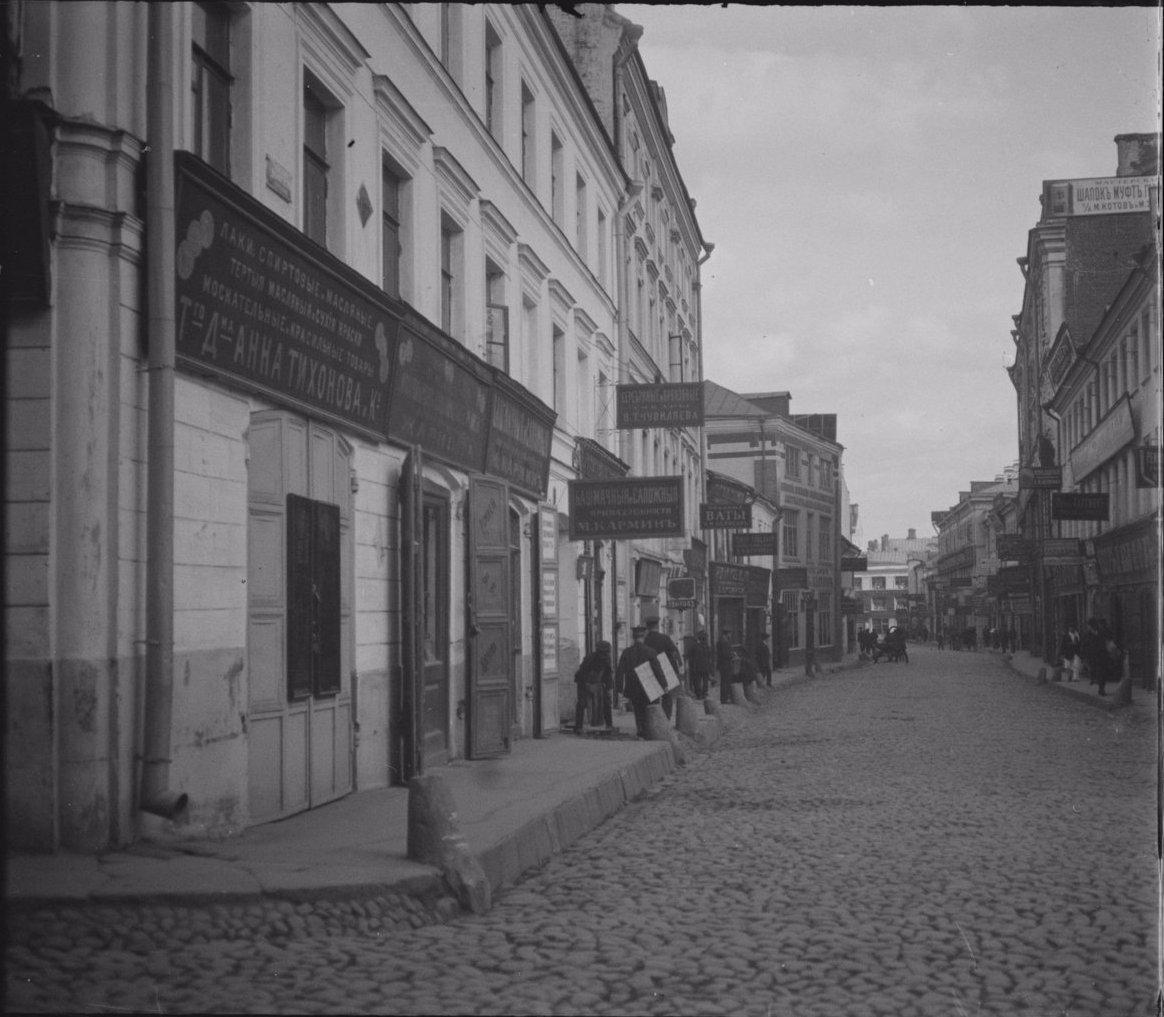 Зарядье. Большой Знаменский переулок. Съемка 1913