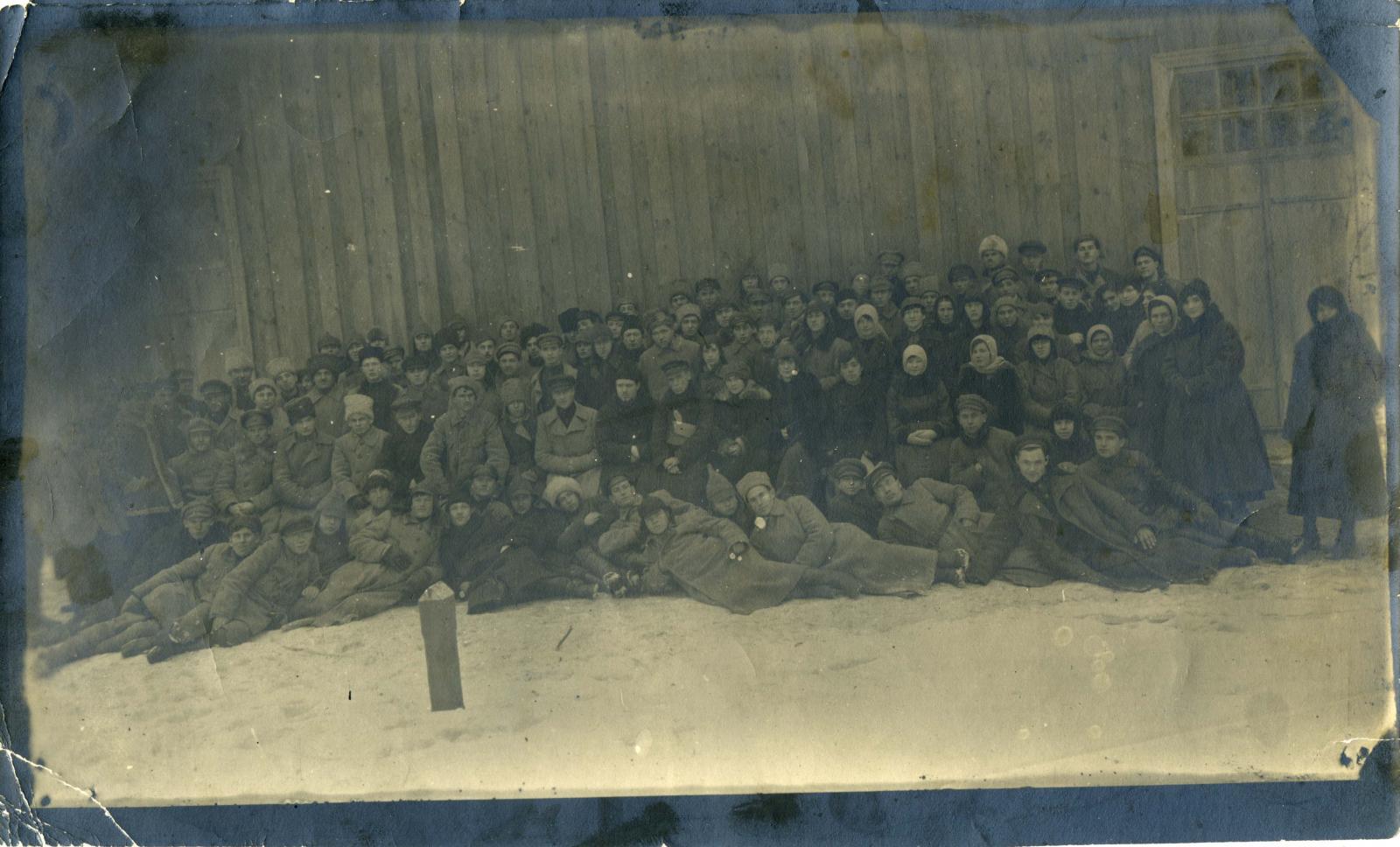 1921. Групповое фото сотрудников Гомельского Губ ЧК, г. Гомель, 27.11.