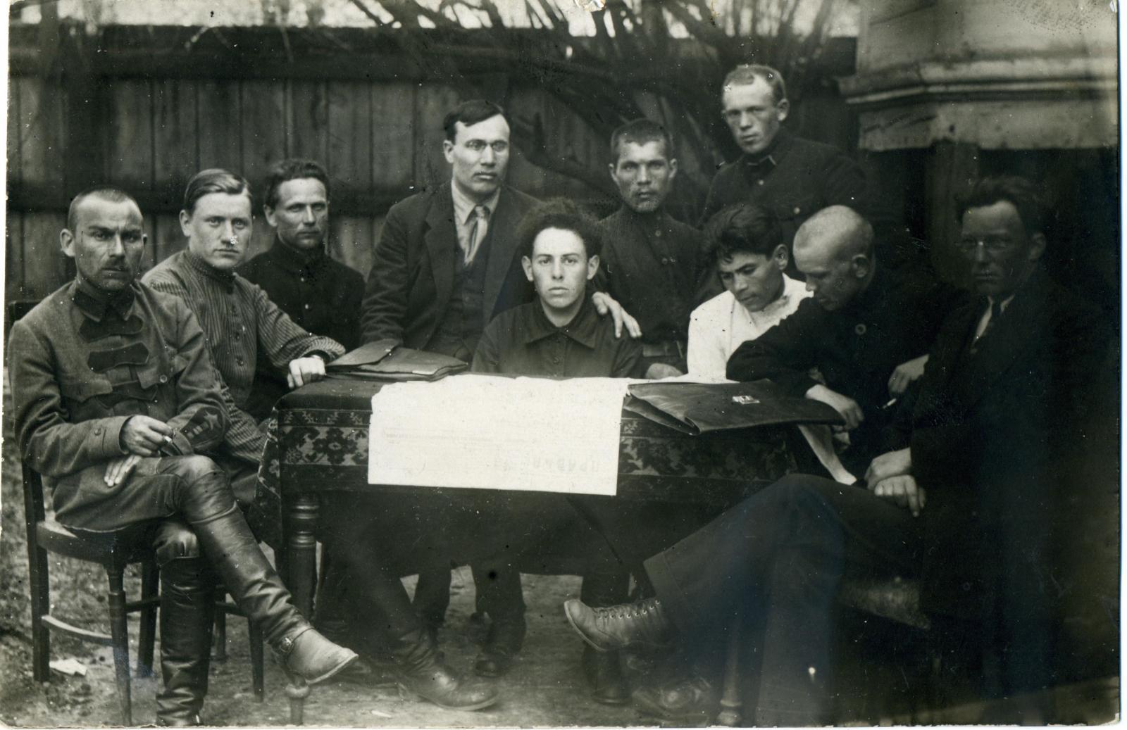 1923. Бюро партячейки Гомельского Губотдела ГПУ, г. Гомель, май