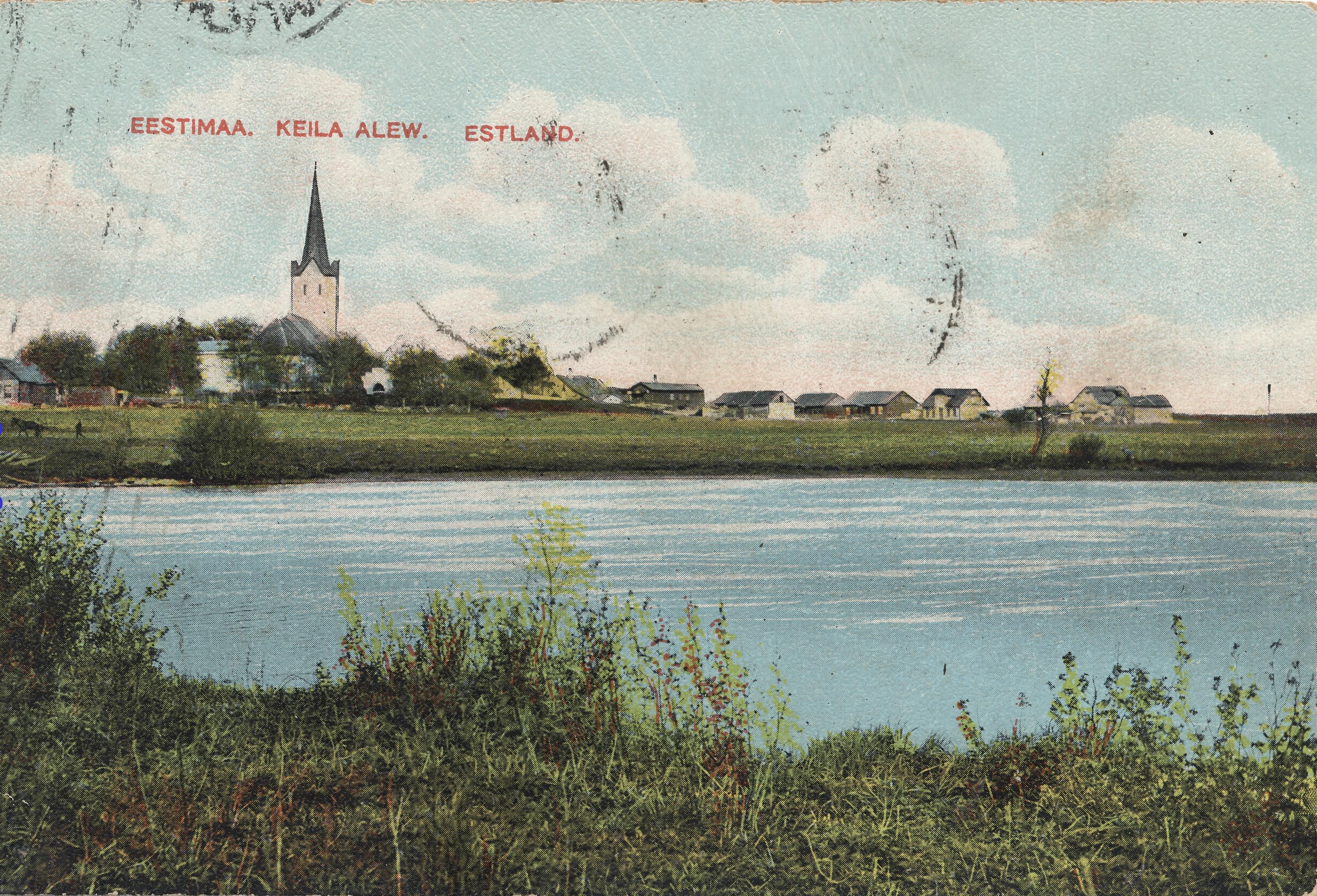 Окрестности Ревеля. Кегель. Река Кейла. Церковь Святого Михаила