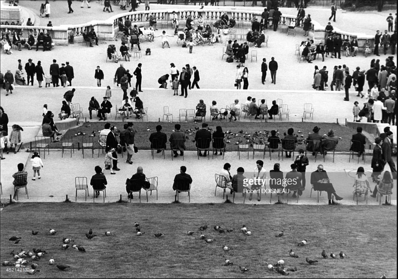 1969. Общественный сад Монмартра, Париж
