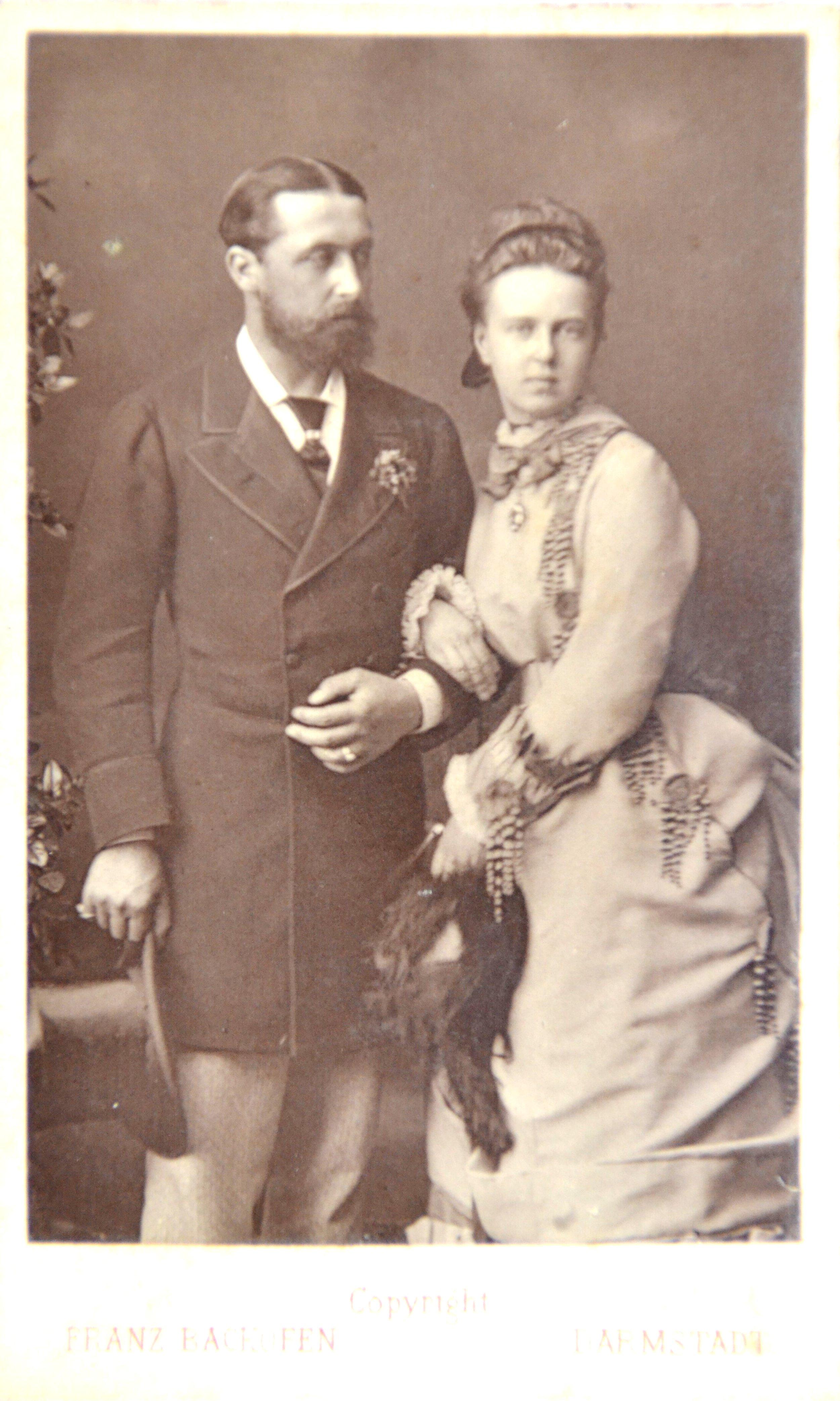 1870-е. Великая Княжна Мария Александровна и ее муж, Его Королевское Величество принц Альфред