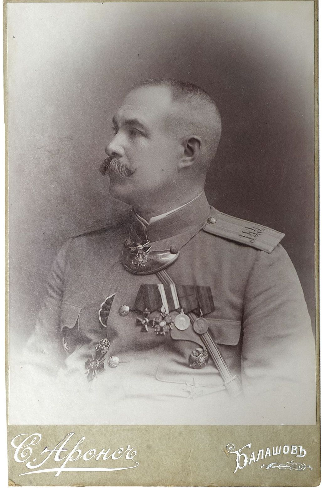 1910-е. Фото командира 144-го пехотного Каширского полка полковника Ниве П. А.