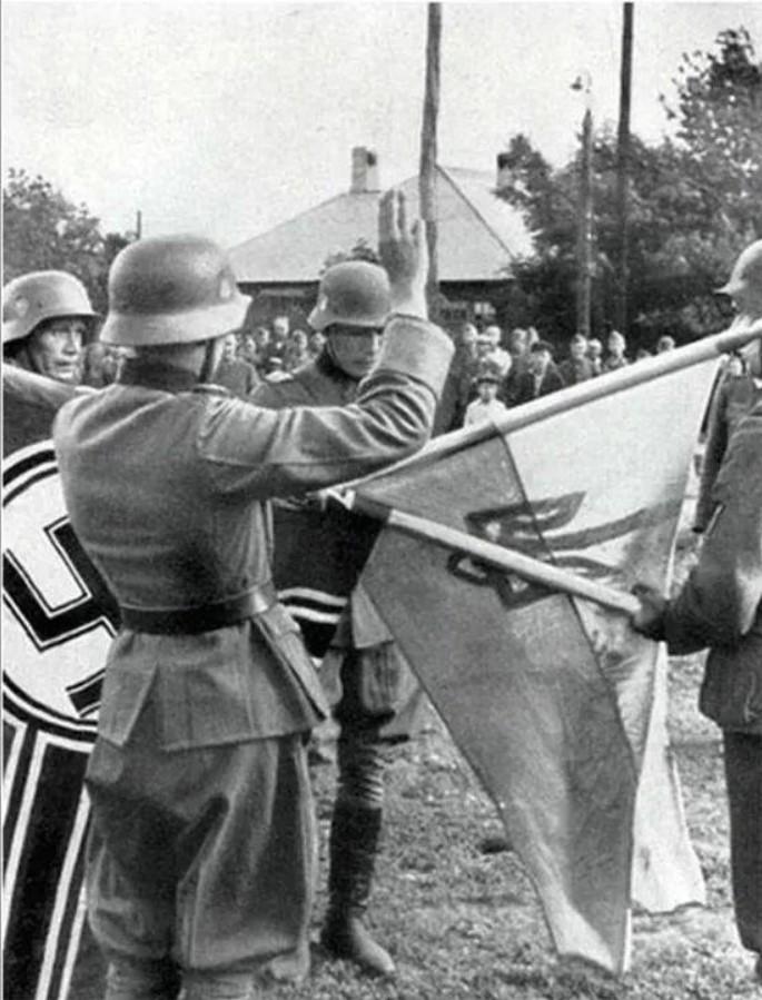 Принятие присяги добровольцами с Западной Украины. 14 дивизия СС Галичина