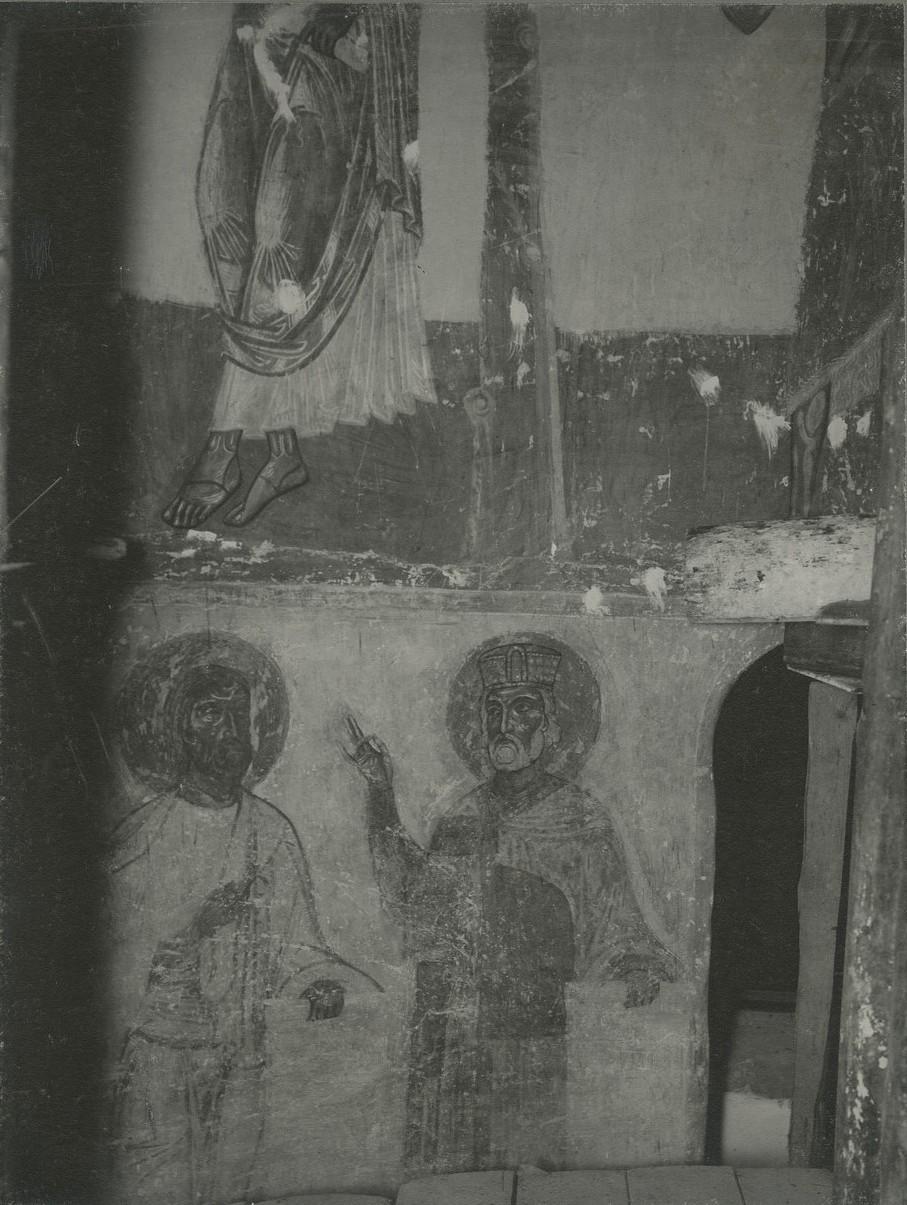 Фрагменты росписи подкупольного пространства   Спасо-Преображенского собора Мирожского монастыря