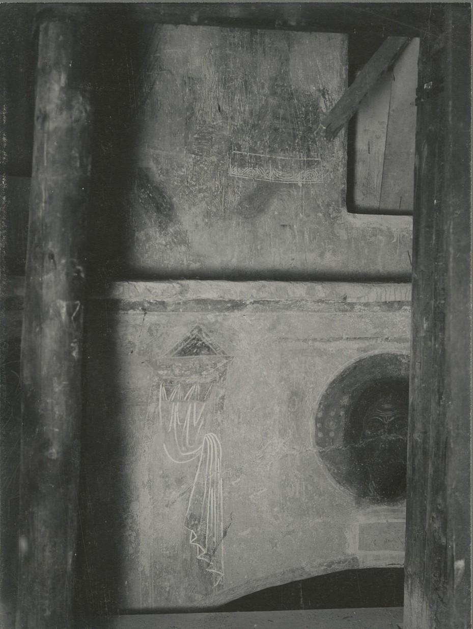 Фрагменты росписи юго-западного паруса Спасо-Преображенского собора Мирожского монастыря  до реставрации