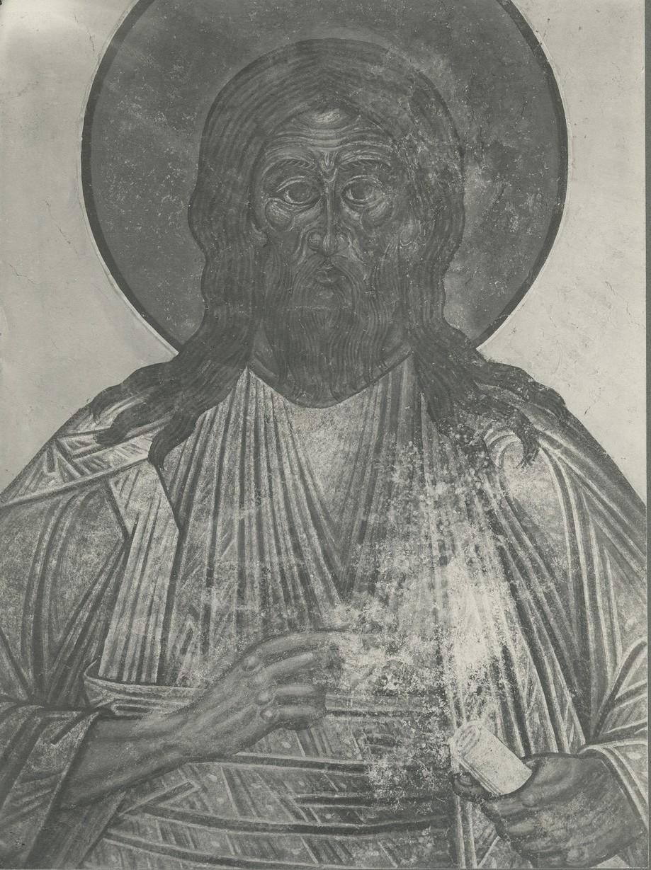 Фреска  конхи апсиды Спасо-Преображенского собора Мирожского монастыря  - «Иоанн Предтеча»