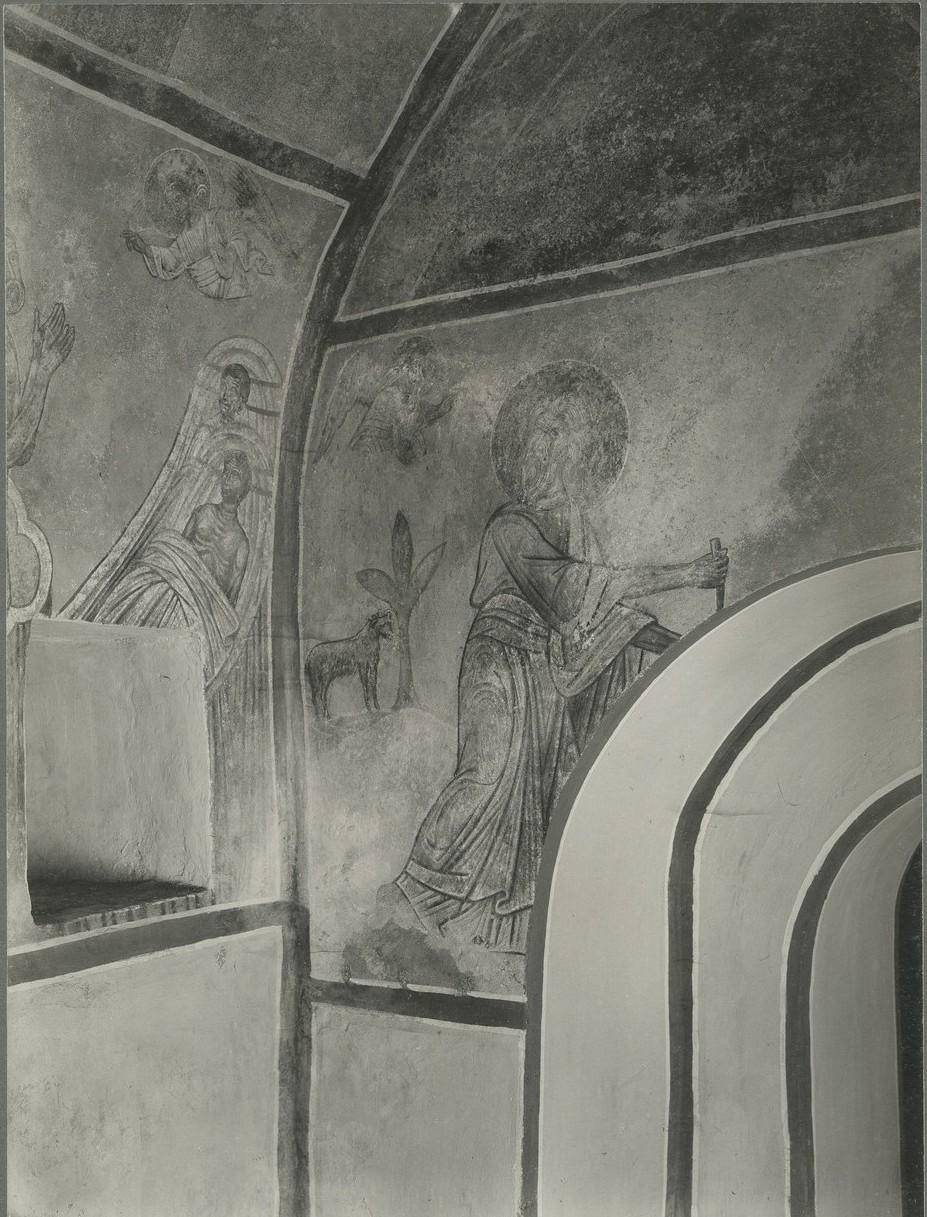 Фреска дьяконника Спасо-Преображенского собора Мирожского монастыря   - «Жертвоприношение Авраама»