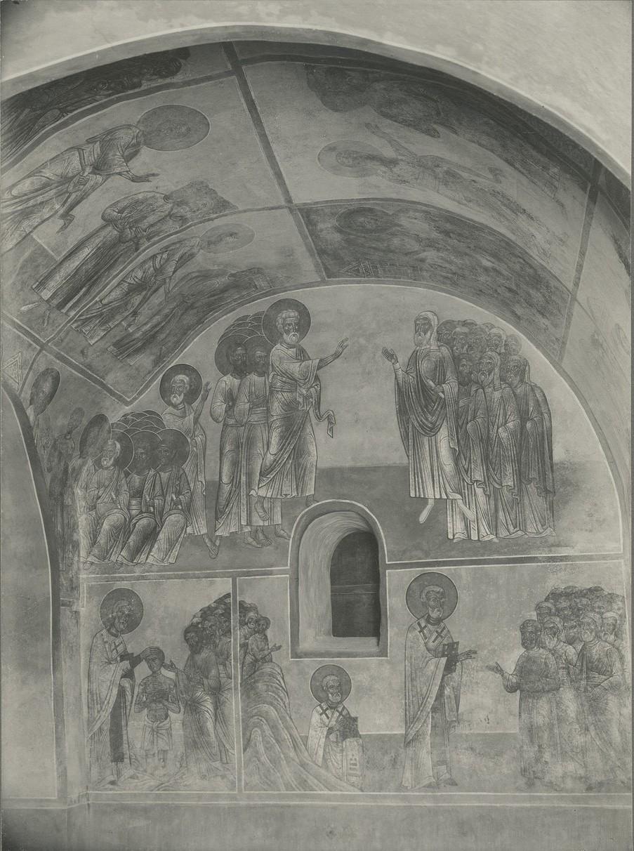 Фрески«Сцены из жития Св. Климента Римского» Спасо-Преображенского собора Мирожского монастыря