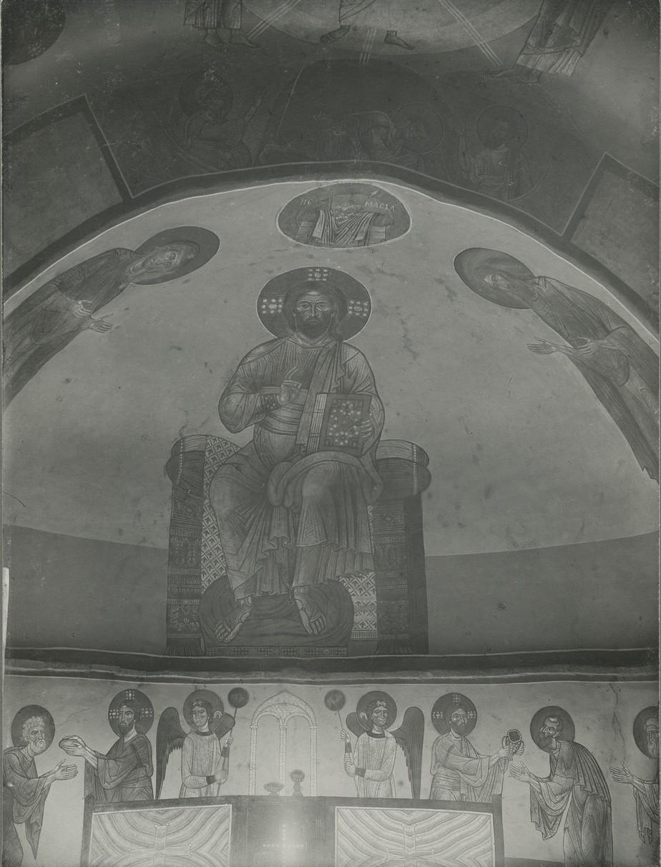 Фрески  Деисусного чина конхи центральной апсиды  Спасо-Преображенского собора Мирожского монастыря